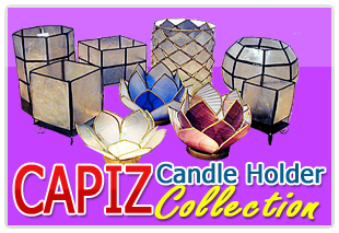 Philippine capiz candle holder